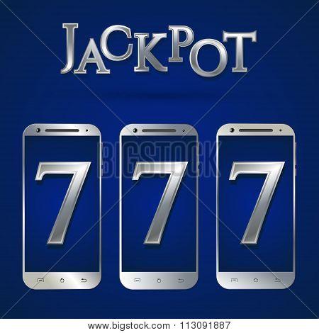 Silver smartphone template