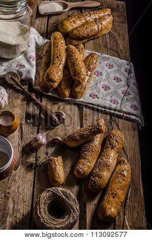 Home-baked Bread Sticks
