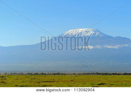 Snow On Top Of Mount Kilimanjaro