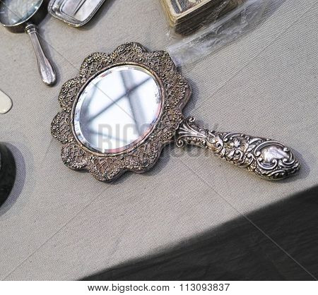 Old Mirror For Toilette