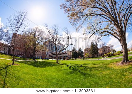 Capitol boulevard in Boise, Idaho, USA