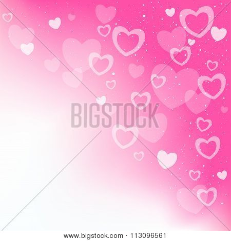 dream hearts pink background