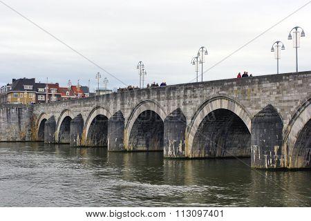 Maastricht, Netherlands - St.servatius Bridge