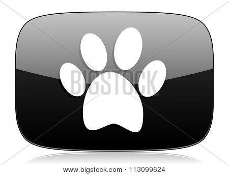 foot black glossy web modern icon