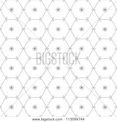 Abstract Geometric Pattern By Lines And Hexagons.