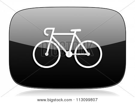 bicycle black glossy web modern icon