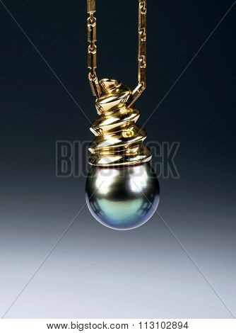 Black Tahitian Pearl.