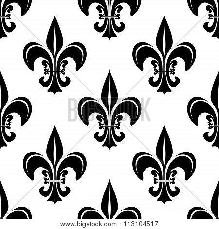 Vintage royal fleur-de-lis seamless pattern
