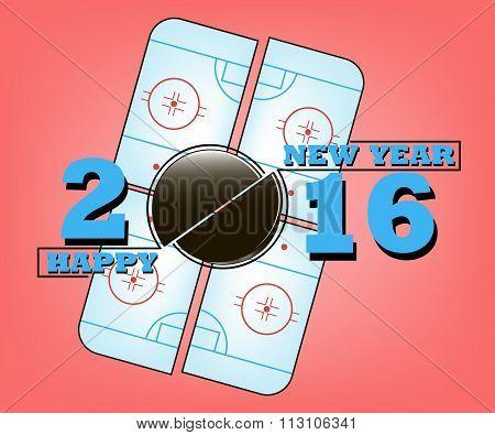 Happy New Year And Hockey