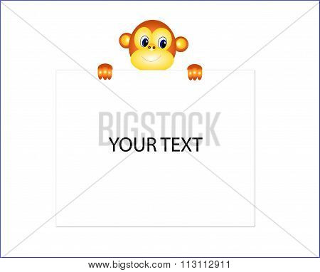 Monkey send your message.