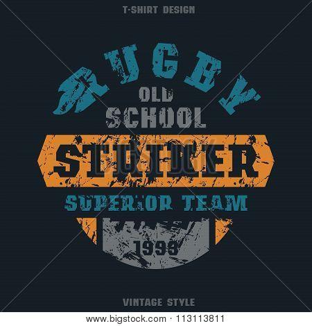 Rugby Striker Emblem