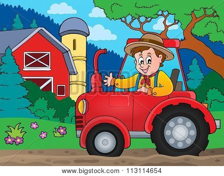 Tractor theme image 6 - eps10 vector illustration.