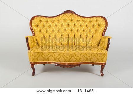 Brown Classical Style Armchair Sofa Couch