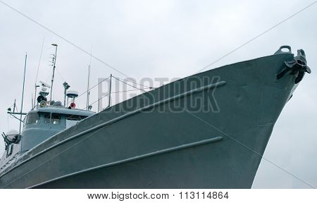 Nose Of The Naval Ship.