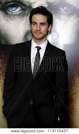 HOLLYWOOD, CALIFORNIA - January 26, 2010. Colin O'Donoghue at the Los Angeles premiere of