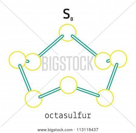 S8 octasulfur molecule