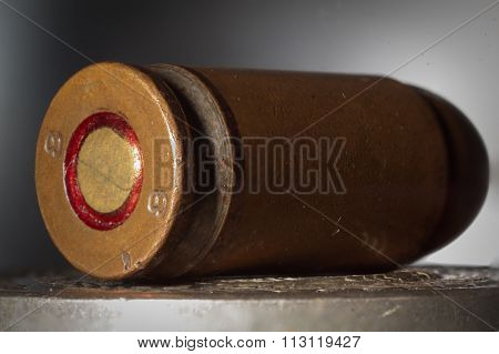 Pistol Cartridge Closeup