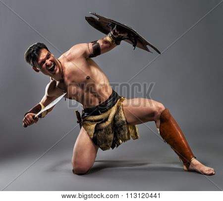 Ancient Warrior. Strike with the knee