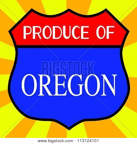 Produce Of Oregon Shield