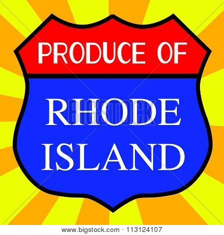 Produce Of Rhode Island Shield