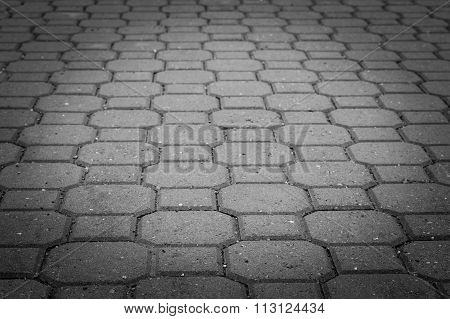 Grey Tiles Urban Pavement Background
