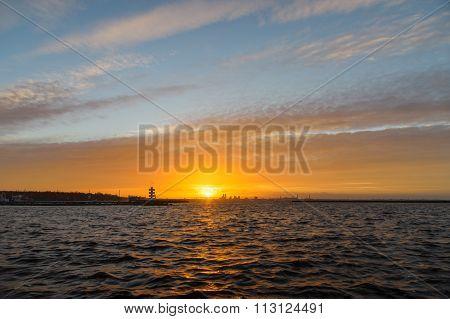 Sunset Sky Over Tallinn Cityscape, Estonia