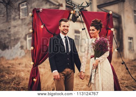 Elegant Couple Laughing