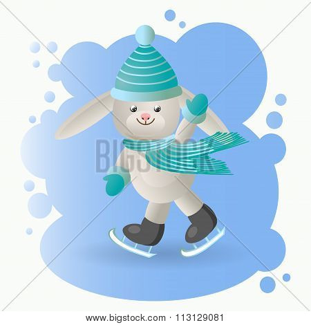 Hare at the rink