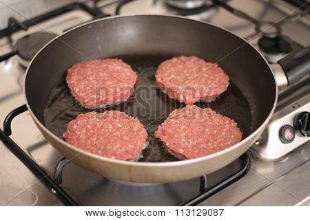 Gas stovetop hamburger