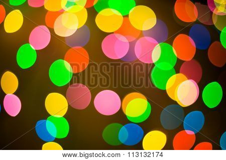 Circular bokeh background of Christmaslight