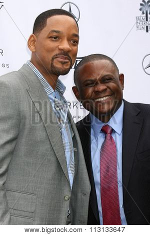 PALM SPRINGS - JAN 3:  Will Smith, Dr. Bennet Omalu at the Variety Creative Impact Awards And 10 Directors To Watch Brunch at the The Parker Hotel on January 3, 2016 in Palm Springs, CA