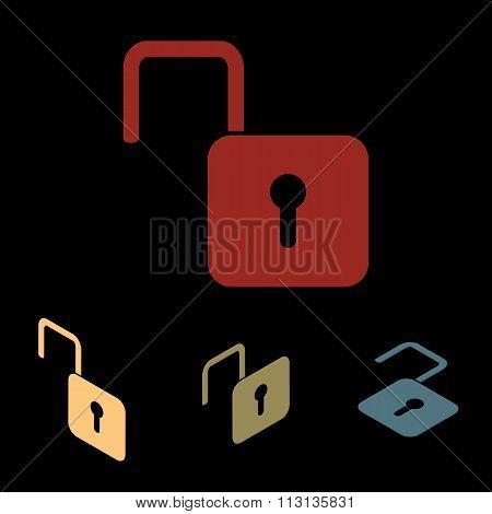 Unlock icon set