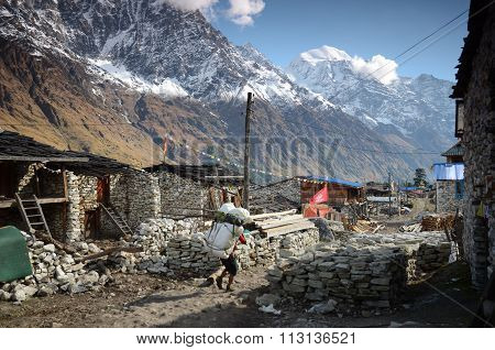 Village in the Himalayas