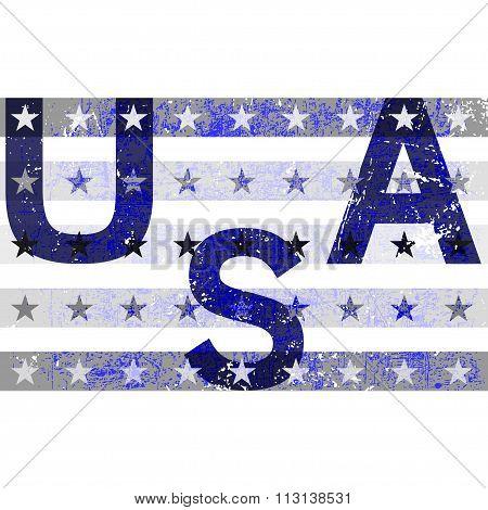 American Typography Graphics Usa Grunge