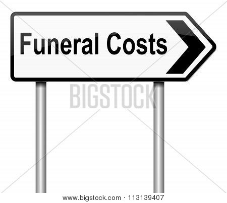 Funeral Costs Concept.