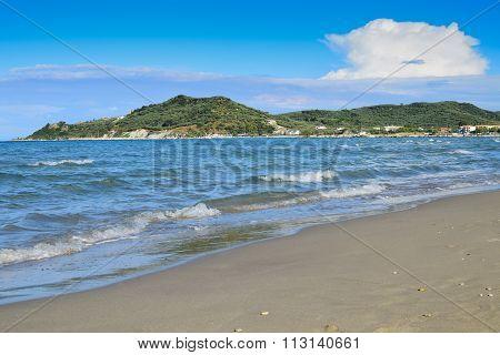A Sandy Beach In Zakynthos