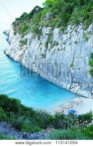 Xigia Sulphurc Beach In Zakynthos, Greece