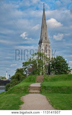 St Alban's Church In Copnehagen, Denmark