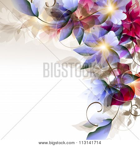 Vector Floral Colorful Background