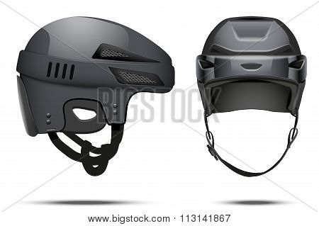Classic black Hockey Helmet