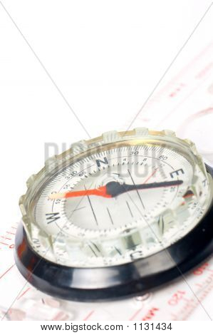 Compass With Focus On The North