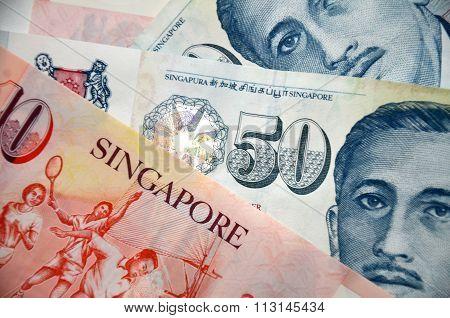 Detail Of Singapore Banknotes