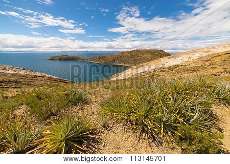 Panorama On Island Of The Sun, Titicaca Lake, Bolivia