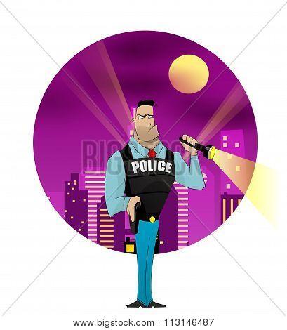 Policeman Vector Illustration