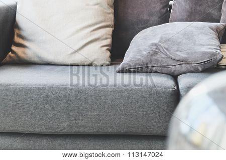 cushion on sofa