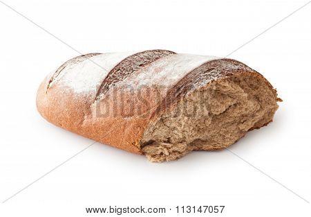 Broken Rye Bread , Isolated