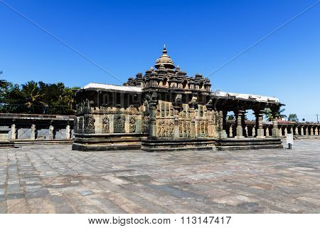 Beautiful artistic structure of gopura of Chennakesava temple, Belur captured on December 30th, 2015