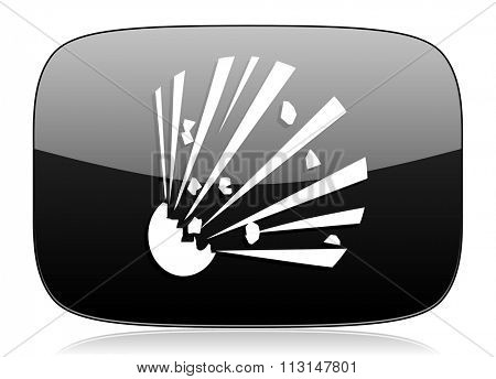 bomb black glossy web modern icon