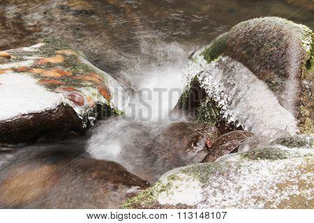 iced stones