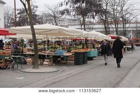 Ljubljana Market In December